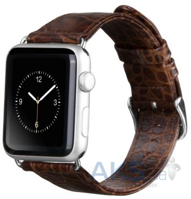 Hoco Art series Crocodile из натуральной кожи для Apple Watch 42mm Brown