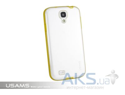 Чехол Usams iCase-Shine On Series for Samsung i9500 Galaxy S4 Transparent  Yellow