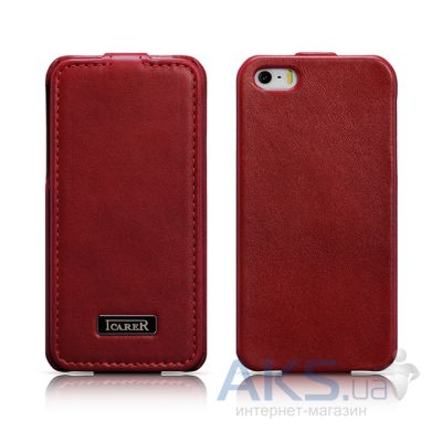 Чехол iCarer Luxury Flip Apple iPhone 5, iPhone 5S, iPhone 5SE Red