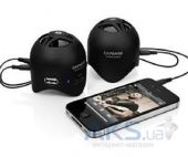Колонки акустические Capdase Portable Speaker Mini Beat Stereo Black for iPad/iPhone/iPod (SK00-MS01)