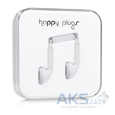 Наушники (гарнитура) Happy Plugs Headphones Earbud White