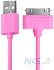 Кабель USB GOLF Rainbow Series Dock Cable Pink