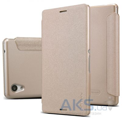 Чехол Nillkin Sparkle Leather Series Sony Xperia M4 Aqua E2303 Gold
