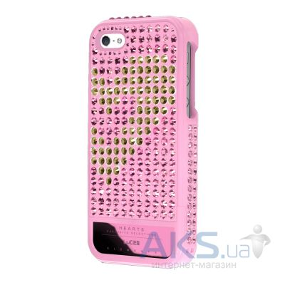 Чехол Lucien Elements Hearts Exclusive Selections Rose IV for iPhone 5/5S Pink