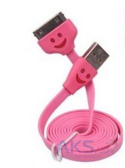 Кабель USB Navsailor для Apple iPhone 4/4S (светящийся smile) (C-072).