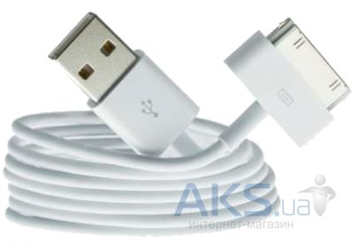 Кабель USB Foxconn Apple 30-pin Cable (OEM) White (MA591)