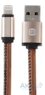 Кабель USB Solove Lightning to USB Cable Nylon Brown