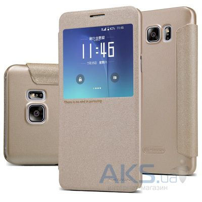Чехол Nillkin Sparkle Leather Series Samsung N920 Galaxy Note 5 Gold