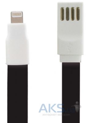 Кабель USB Gelius Gold Edition Flat Lightning cable Black