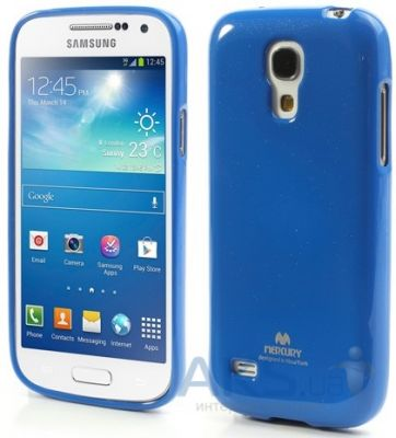 Чехол Mercury Jelly Color Series Samsung i9190 Galaxy S4 mini, i9192 Galaxy S4 mini Duos, i9195 Galaxy S4 mini Duos Blue