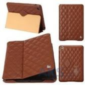 Вид 2 - Чехол для планшета JisonCase Quilted Leather Smart Case for iPad mini/mini 2 Brown (JS-IDM-02G20(002D))