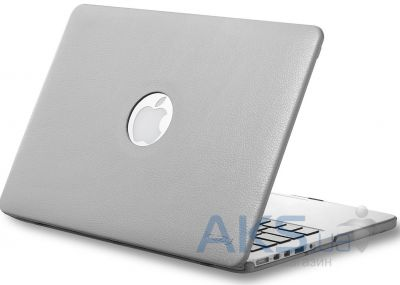 Чехол Kuzy Leather Case for MacBook Pro 13(with Retina display) Gray