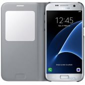 Вид 2 - Чехол Samsung S View Cover Series G935 Galaxy S7 Edge Silver (EF-CG935PSEGRU)