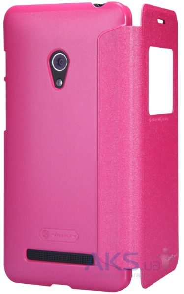 Чехол Nillkin Sparkle Leather Series Asus ZenFone 5 A501CG Pink