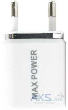 Зарядное устройство Maxpower Double Home Charger (1A/2.1A) White/Silver