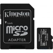 Карта памяти Kingston microSDHC 32GB Canvas Select Plus Class 10 UHS-I U1 V10 A1 + SD-адаптер (SDCS2/32GB)