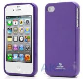 Чехол Mercury TPU Jelly Color Series Apple iPhone 4, iPhone 4S Violet