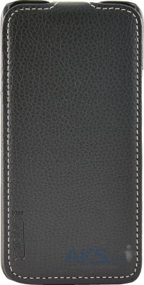 Чехол Carer Base Leather Flip Case for Fly IQ446 Magic Black