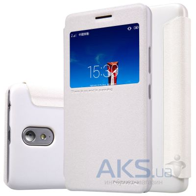 Чехол Nillkin Sparkle Leather Series Lenovo Vibe P1m White