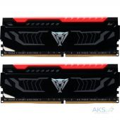 Оперативная память Patriot DDR4 16GB (2x8GB) 2666 MHz LED SERIES RED (PVLR416G266C5K)