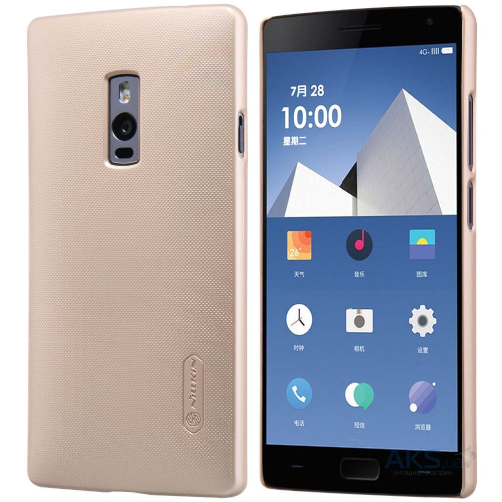 Чехол Nillkin Super Frosted Shield OnePlus 2 Gold