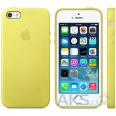 Чехол Apple Leather Case iPhone 5, iPhone 5S, iPhone SE Yellow (MF043)