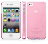 Чехол IMAK Ultra Thin Color Series Apple iPhone 4, iPhone 4S Transparent Pink