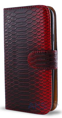 Чехол Turned Around Book for Samsung S5690 Red Croco