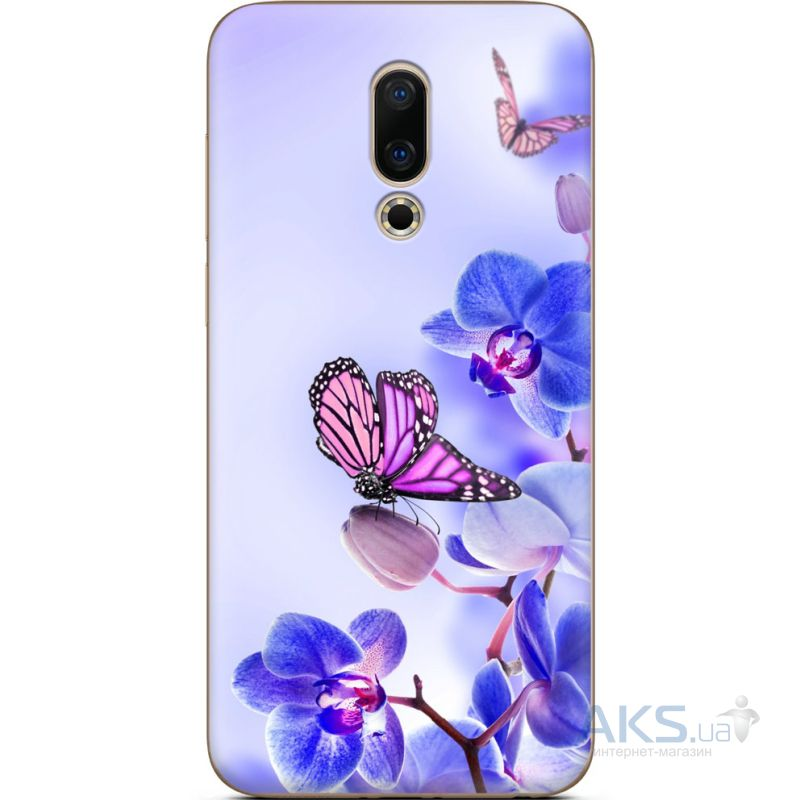 Чехол 1TOUCH Silicone Print Flower Series Meizu 16, 16th Butterfly