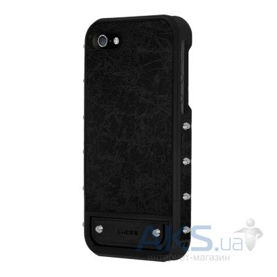 Чехол Lucien Elements Le Baron Leather Series Argent for iPhone 5/5S Black