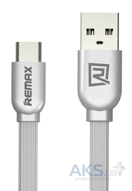 Кабель USB REMAX Type-C updated Silver (RC-047a)