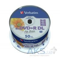 Диск Verbatim DVD+R 8.5Gb 8x CakeBox 50шт (97693)