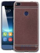 Чехол Slenky Leather Limited Edition Huawei P8 Lite 2017 Dark Brown