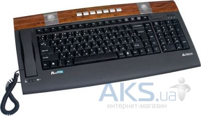 Клавиатура A4Tech KIP-900-2 Black+Brown