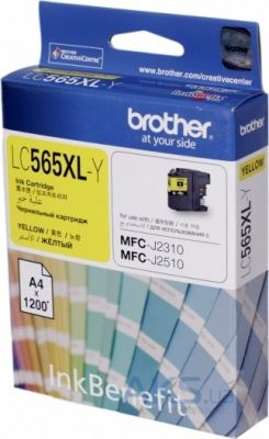 Картридж Brother MFC-J2310/J3520 XL (LC565XLY) yellow