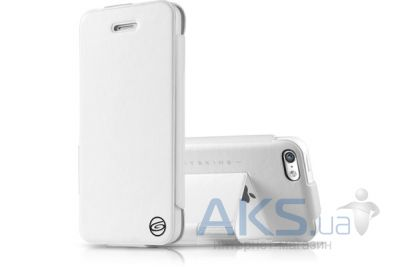 Чехол ITSkins Plume Artificial for iPhone 5C White/Black (APNP-PLUME-WHBK)
