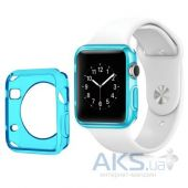 iBest чехол для Apple Watch 42mm TPU Case Clear Blue