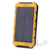 Внешний аккумулятор power bank MANGO DS18000 IPX6 waterproof solar, 6000mAh Black/Yellow