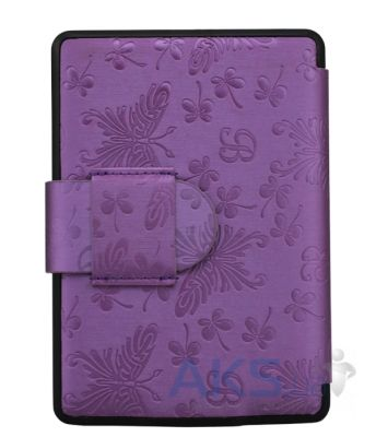 Обложка (чехол) Leather case for Amazon Kindle Paperwhite Butterfly Purple