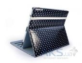 Чехол для планшета Tuff-Luv Slim-Stand Leather Case Cover for iPad 2,3,4 Black: Polka-Hot (B4_30)