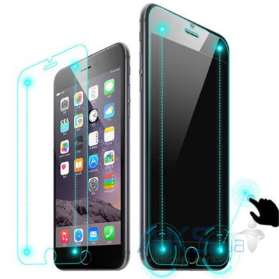 Защитное стекло Tempered Glass Smart Button Apple iPhone 6 Plus/6S Plus Round Edge 0.33mm 9H