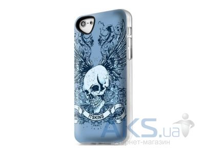 Чехол ITSkins Phantom cover case for iPhone 5/5S Skull 13 (APH5-PHANT-AQUA)