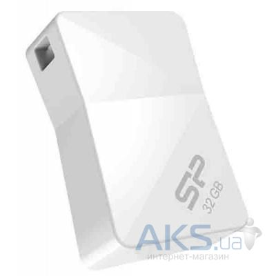 Флешка Silicon Power 32Gb Touch T08 White USB 2.0 (SP032GBUF2T08V1W)