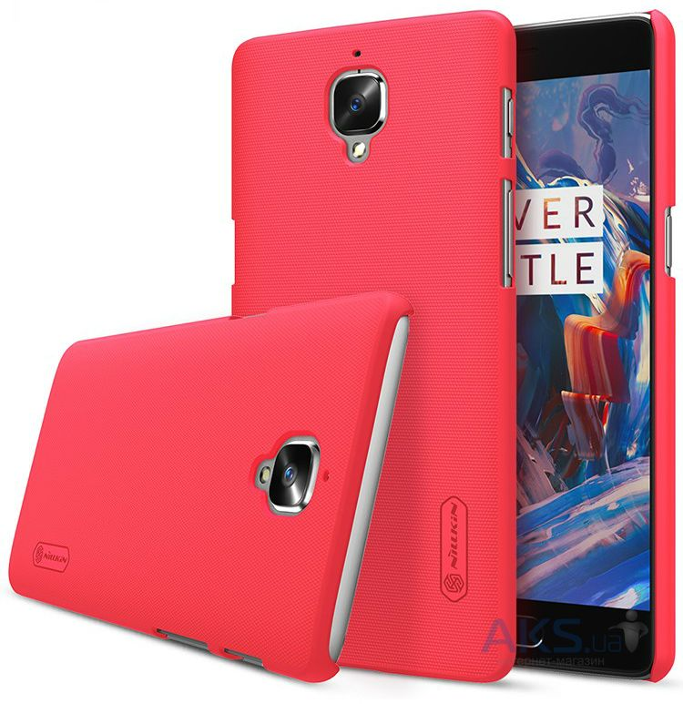 Чехол Nillkin Super Frosted Shield OnePlus 3, 3T Red