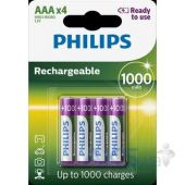 Аккумулятор Philips AAA 1000 mAh BLI 4 (READY 2 USE)