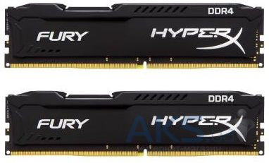 Оперативная память Kingston DDR4 8GB (2x4GB) 2133 MHz Fury Black (HX421C14FBK2/8)