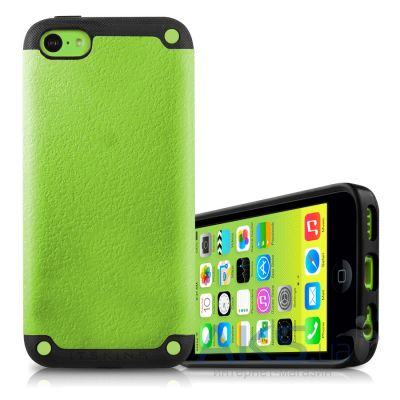 Чехол ITSkins Utopia for iPhone 5C Black/Green (APNP-UTOPA-BKGR)
