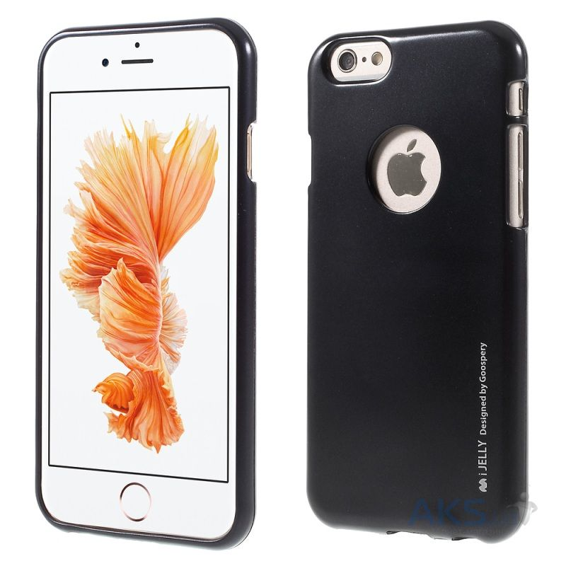 Чехол Mercury Jelly Metal Series Apple iPhone 6, iPhone 6S Black