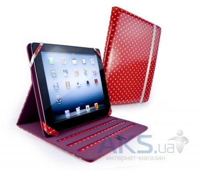 Чехол для планшета Tuff-Luv Slim-Stand Leather Case Cover for iPad 2,3,4 Raspberry: Polka-Hot (B10_36)