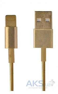 Кабель USB Apple iPhone Lightning to USB 2.0 (MD818) Gold